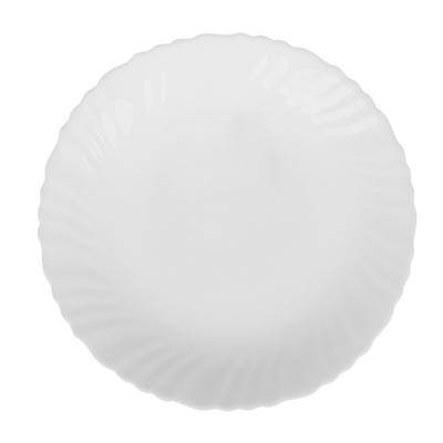 "818-437 Тарелка десертная d.19 см, опаловое стекло, MILLIMI ""Бьянко"""