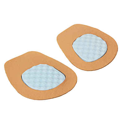 459-135 Полустельки для обуви на высоком каблуке из натуральной кожи, латекс, пара