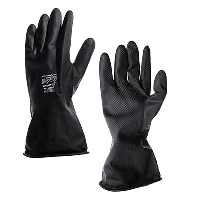 638-040 Перчатки КЩС, резиновые, тип 1, прочные, защита от кислотно-щелочн.среды (20%)