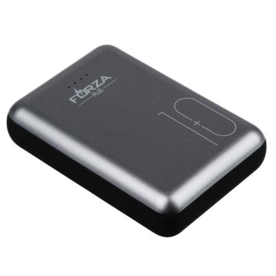 916-170 Аккумулятор мобильный FORZA 10000 мАч, 2A, 2 USB, 9x6см, пластик, металл, черный с серебристым