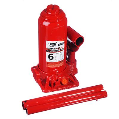 770-076 FALCO Домкрат гидравлический бутылочный 6 т, в кейсе высота подъема 197-382мм