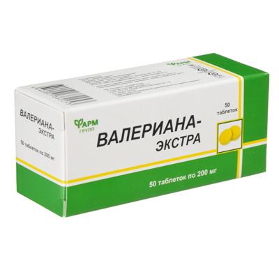 015-066 БАД Валериана-экстра, табл 200мг № 50