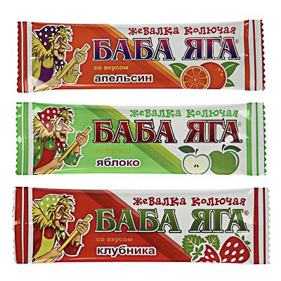 "015-090 БАД Конфета жевательная ""БАБА ЯГА"", апельсин, 11г."