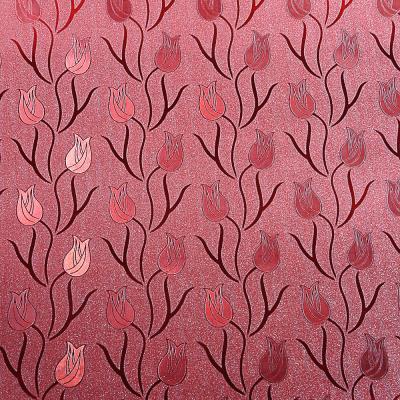 """416-212 Пленка самоклеящаяся, 45см х 8м, ПВХ, блестящая """"Цветы"""", 4 дизайна"""