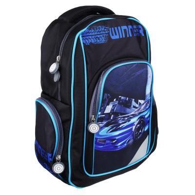 254-181 Рюкзак школьный Победитель 38x28x12 см, 1 отделение, уплотненная спинка и лямки