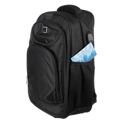 254-195 Рюкзак улучшенный 46x34x18 см, 3 отделения, уплотненные лямки, усиленная ручка, черный