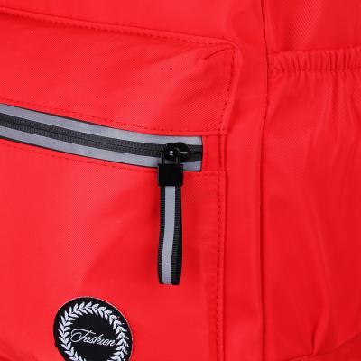 254-202 Рюкзак 40x28x16 см,1 отделение, уплотненные лямки, гладкий нейлон, красный