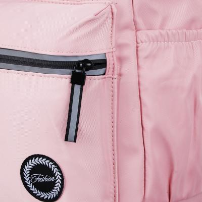 254-203 Рюкзак 40x28x16 см,1 отделение, уплотненные лямки, гладкий нейлон, розовый
