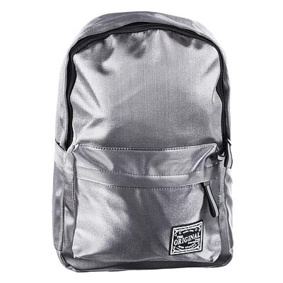 254-205 Рюкзак 40x28x16 см,1 отделение, уплотненные лямки, сияющий нейлон, серый