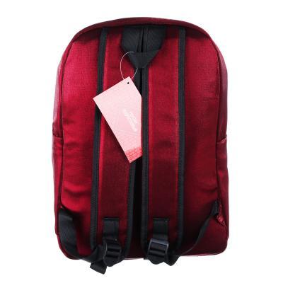 254-206 Рюкзак 40x28x16 см,1 отделение, уплотненные лямки, сияющий нейлон, красный