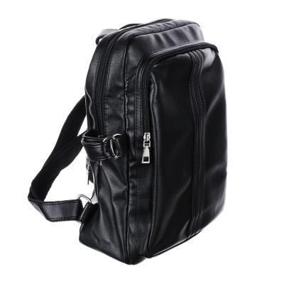 254-207 Рюкзак 34x26x15 см, 2 отделения, искусственная кожа, черный, дизайн 1