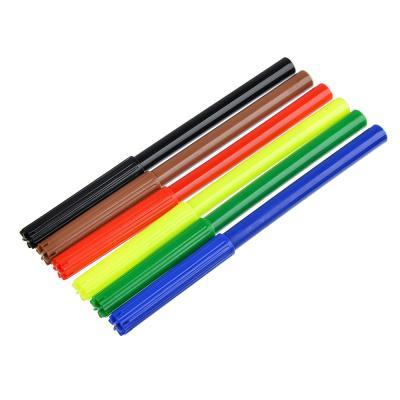 256-195 Хертс коллекшн Фломастеры 6 цветов с цветным вентилируемым колпачком, в ПВХ пенале с подвесом