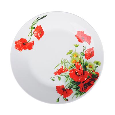 821-014 Красный мак Тарелка десертная, 19см, фарфор