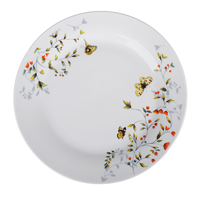 821-020 Бабочки Тарелка подстановочная, 23см, фарфор