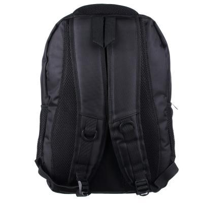 254-209 Рюкзак 46x34x18 см, 3 отделения, плотненные лямки, усиленная ручка, черный с синим