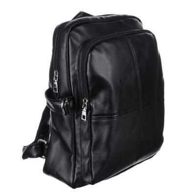 254-210 Рюкзак 34x26x15 см, 2 отделения, искусственная кожа, черный, дизайн 2