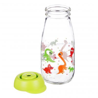 828-212 Бутылка с соломинкой HEREVIN 250 мл, стекло, 2 дизайна