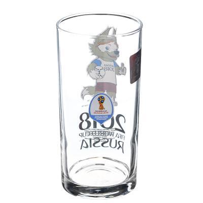 """878-410 ОСЗ FIFA Набор стаканов, 2шт, стекло, 270мл, высокие, """"Гео"""", """"Забивака ЧМ"""", N7071/0"""