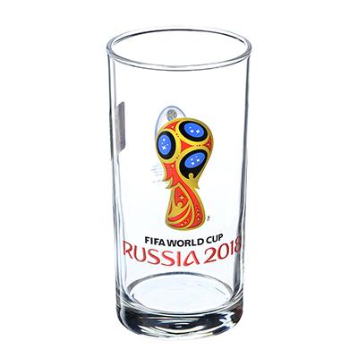 """878-416 ОСЗ FIFA Набо стаканов, 2шт, стекло, 270мл, высокие, """"Гео"""" """"Эмблема"""", N7064/0"""