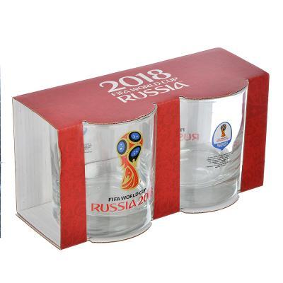 "878-417 ОСЗ FIFA Набор стаканов, 2шт, стекло, 300мл, низкие, ""Исланд"" ""Эмблема"", N7065/0"