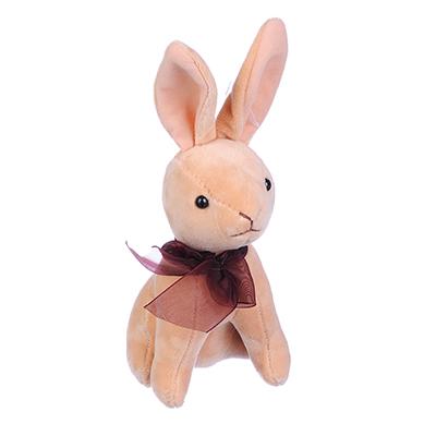 264-210 МЕШОК ПОДАРКОВ Игрушка мягкая в виде зайчика плюшевого 14см, полиэстер, 1-4 цвета