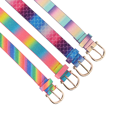 311-363 PAVO Ремень для девочек, ПУ, сплав, длина 70/80см, ширина 2,2см, 4 цвета, РД19-3