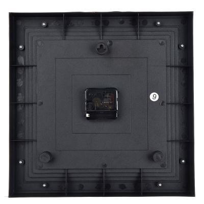581-797 Часы настенные, квадратные, 1хАА, 31х31 см, серые с коричневым