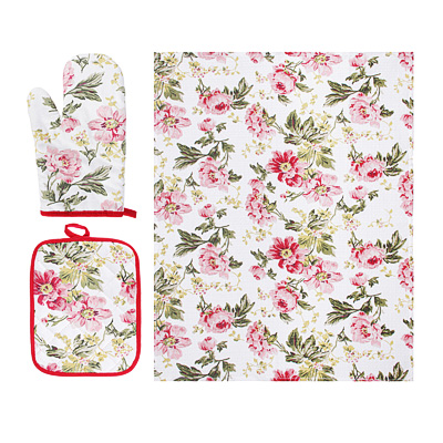 433-007 Подарочный набор Bonita 3 пр: полотенце 44х60см, рукавица 17х28см, прихватка 18х23см, 100% хлопок