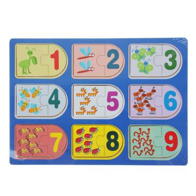 "262-430 Пазл деревянный ""Учим счет"",29,5х21х1см, 2-4 дизайна"