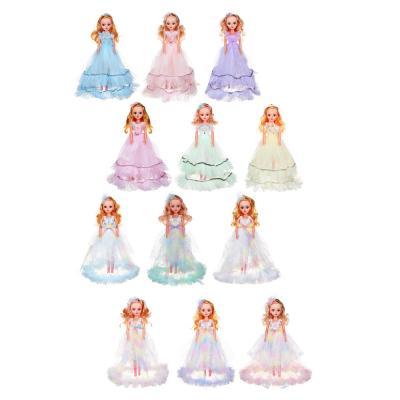 267-809 ИГРОЛЕНД Кукла классическая в пышном платье, 35-45см, пластик, полиэстер, 4-8 цветов