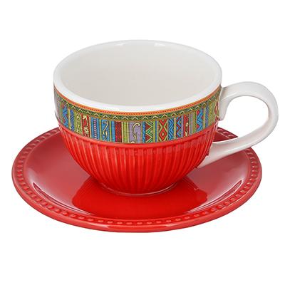 "824-112 Чайный сервиз 2 предмета, керамика, MILLIMI ""Этника"""