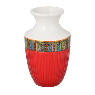 """824-116 Ваза для цветов 15х9 см, керамика, MILLIMI """"Этника"""""""