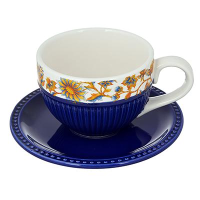 "824-142 Чайный сервиз 2 предмета, керамика, MILLIMI ""Ноктюрн"""