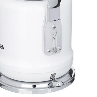 291-082 Чайник электрический 1,2 л LEBEN, 2200 Вт,нержавеющаясталь, белый