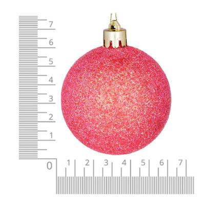 372-407 Елочные шары набор СНОУ БУМ 8 шт, 6см, пластик, в тубе, коралловый и шампань