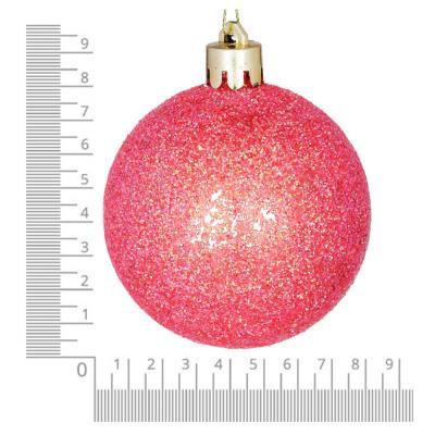 372-412 Елочные шары набор СНОУ БУМ 8 шт, 8см, пластик, в тубе, коралловый и шампань