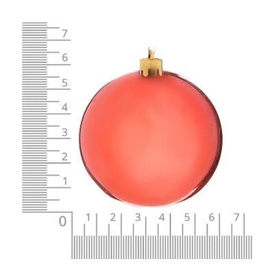 372-414 Елочные шары набор СНОУ БУМ 6шт, 6см, пластик, в пакете, коралловый, глянец