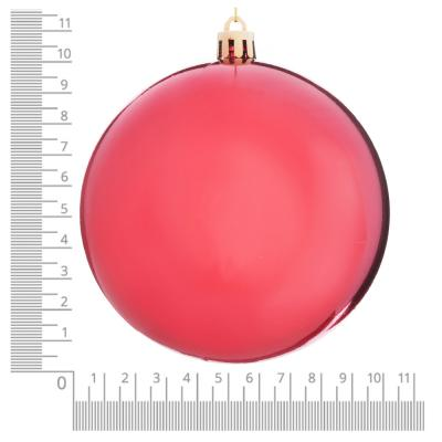 372-418 Елочный шар СНОУ БУМ 10 см, пластик, 1 шт, в пакете, коралловый