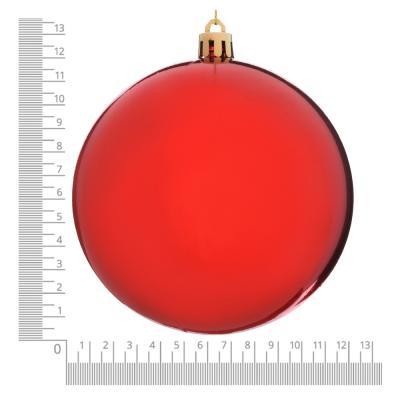 372-422 Елочный шар СНОУ БУМ 12 см, пластик, 1 шт, в пакете, красный