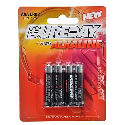 917-060 Батарейки Dureday Classic 4 шт щелочная, тип AAA (LR03), 1,5В