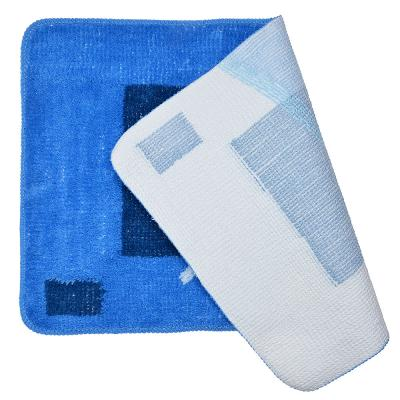 462-651 VETTA Набор ковриков 2шт для ванной и туалета, акрил, 50x80см + 50x50см, синий 4 дизайна