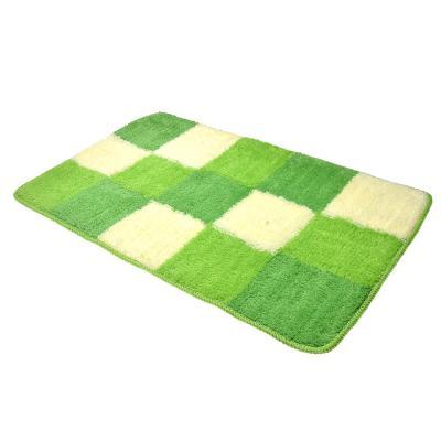 462-652 VETTA Набор ковриков 2шт для ванной и туалета, акрил, 50x80см + 50x50см, зелёный 4 дизайна