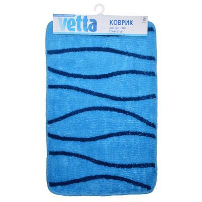 462-655 VETTA Коврик для ванной, акрил, 50x80см, голубой, 3 дизайна