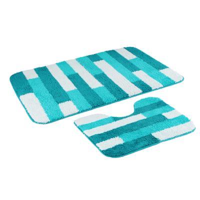 """462-661 VETTA Набор ковров для ванной """"Полоска"""", 50х75см + 40х50см, микрофибра, 2 дизайна"""