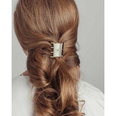 324-138 Краб для волос, пластик, 4,5см, 12 цветов, ЗК19-05
