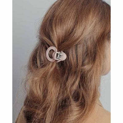 324-142 Краб для волос, пластик, 4см, 6 цветов, ЗК19-09