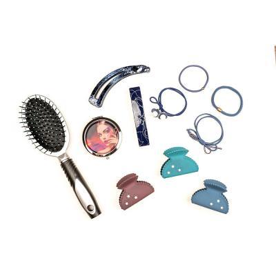 324-145 Краб для волос, пластик, 6см, 12 цветов, ЗК19-11