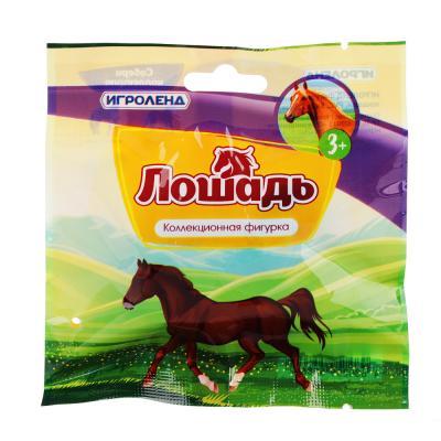 274-130 ИГРОЛЕНД Фигурка в виде лошади, PVC, 5х7х2,8см, 12-24 дизайна
