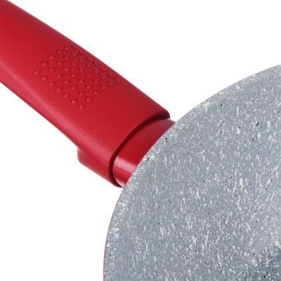 846-463 SATOSHI Верден Сотейник литой d. 24см, антипригарное покрытие мрамор, индукция