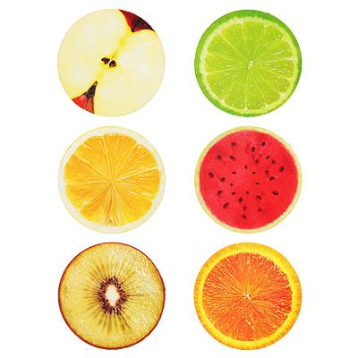 297-052 Мялка в виде половинки фрукта, ПУ, 10х5см, 4-6 дизайнов